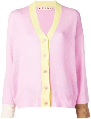 Marni colour-block long-sleeve cardigan