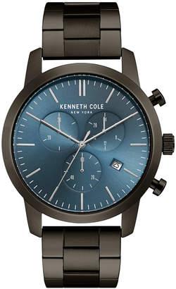 Kenneth Cole New York Men Chronograph Gunmetal Stainless Steel Bracelet Watch 44mm