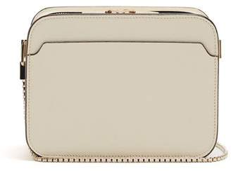 Valextra Dada Grained Leather Cross Body Bag - Womens - Ivory