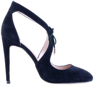 Raquel Black Suede Pump