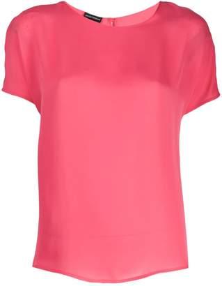 Emporio Armani round neck silk blouse