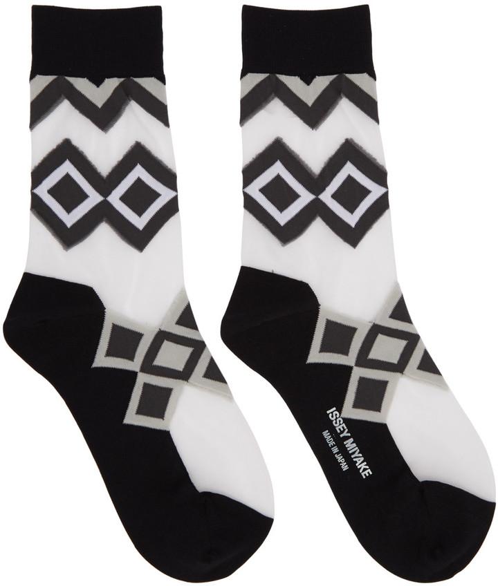 Issey MiyakeIssey Miyake Black Half Sheer Socks