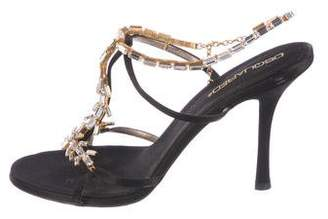 DSQUARED2 Satin Embellished Sandals