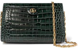 Gucci Ophidia Alligator Shoulder Bag - Green