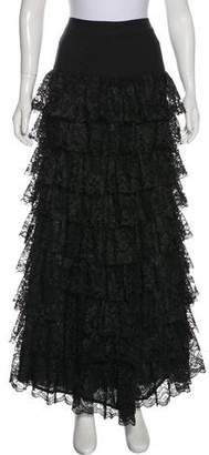 Nicole Miller Tiered Lace Skirt