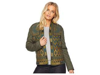 Tribal Long Sleeve Quilted Embroidered Jacket
