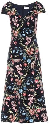 Peter Pilotto Floral cady midi dress