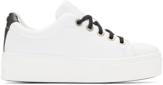 Kenzo White Platform Sneakers $345 thestylecure.com