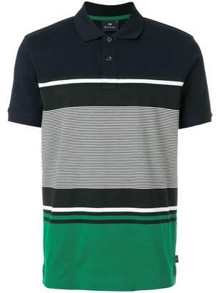 Paul Smith panelled polo shirt