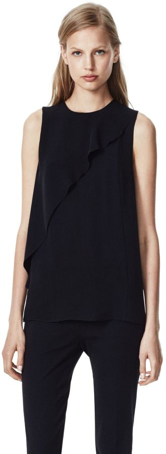 Theory Charelle Top in Double Georgette Silk