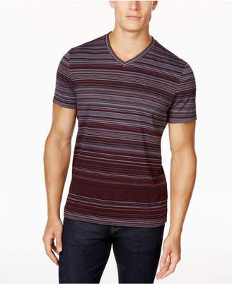 Alfani Striped V-Neck T-Shirt, Created for Macy's