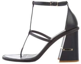 Tibi Leather Thong Sandals
