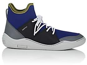 Lanvin Men's Neoprene & Leather Sneakers - Blue