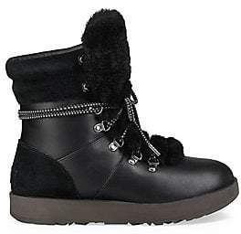 UGG Women's Viki Waterproof Shearling& Leather Boots