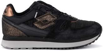 Lotto Leggenda Lotto Tokyo Black And Bronze Fabric And Suede Sneaker
