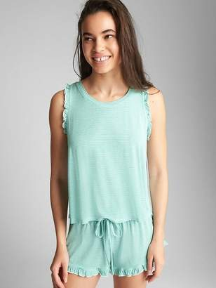Gap Ruffle Print Tank Top