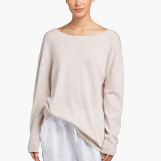 James Perse BABY CASHMERE BACK V SWEATER