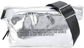 Calvin Klein logo print belt bag