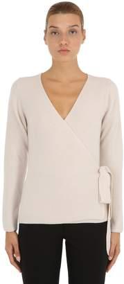 Wool Blend Sweater W/ Wrap Closure