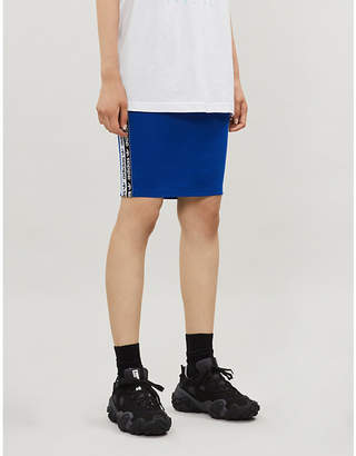 adidas Branded-panels stretch-cotton bodycon miniskirt