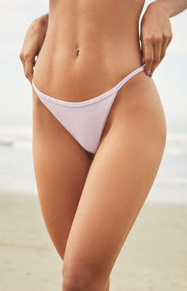 La Hearts Lilac Icon Ribbed Binded Bikini Bottom