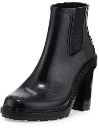 Hunter Boot Original Refined Rubber Chelsea Boot, Black $195 thestylecure.com