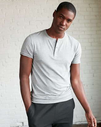 Express Slim Supersoft Short Sleeve Henley Tee