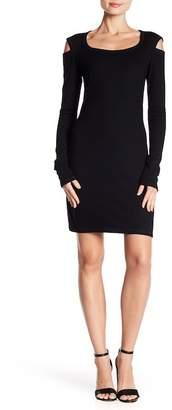 Helmut Lang Wool Blend Slash Dress