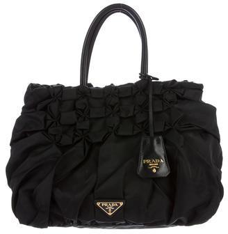 pradaPrada Tessuto Ruffle Handle Bag