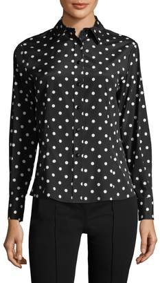 Carolina Herrera Women's Polka Dot Button-Down Blouse