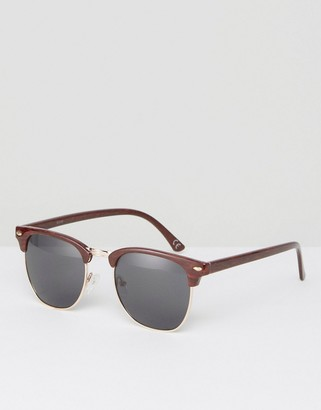 Retro Sunglasses In Wood Effect