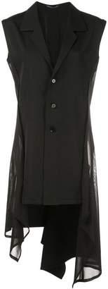 Yohji Yamamoto asymmetric sleeveless jacket