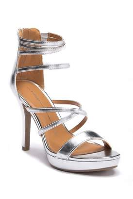 Report Metallic Platform Heeled Sandal