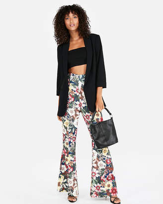 Express Super High Waisted Soft Twill Flare Pant