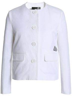 Love Moschino Embellished Cotton-blend Twill Jacket