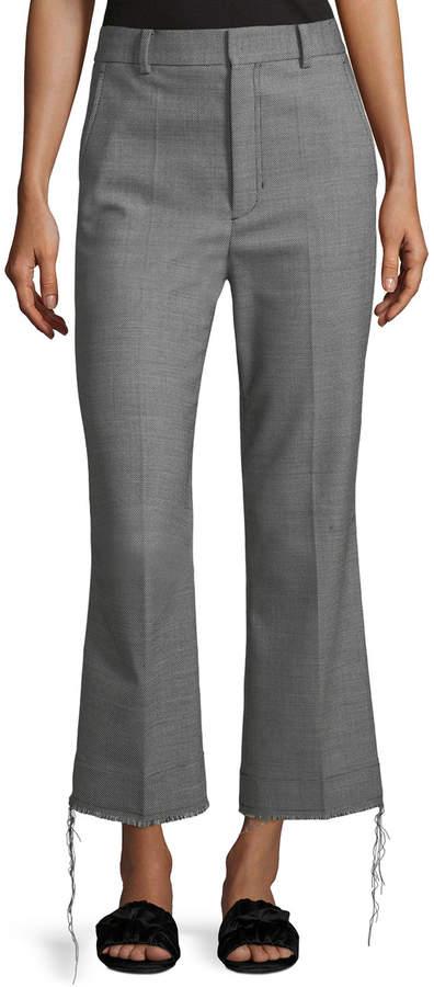 Birdseye Wool Suiting Pants