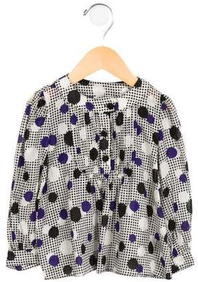 Milly Minis Girls' Polka Dot Long Sleeve Top