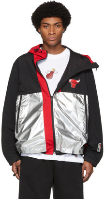 Marcelo Burlon County of Milan Multicolor NBA Edition Chicago Bulls Windbreaker Jacket