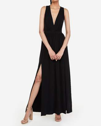 216f8eab Express Black Deep V Neck Dresses - ShopStyle