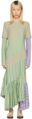 Loewe Beige Diagonal Cut Fringe Dress