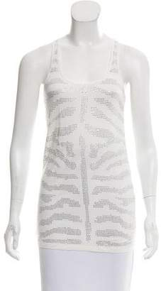 Torn By Ronny Kobo Embellished Racerback Top w/ Tags