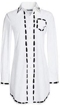 Moschino Women's Top Stitch Shirt Dress