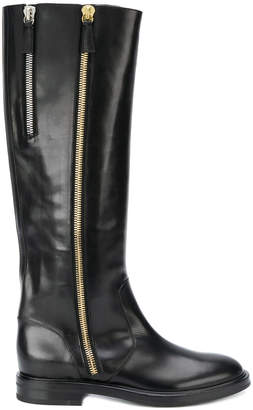 Casadei zip-embellished high boots