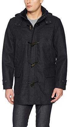 Nautica Men's Hooded Wool Toggle Jacket