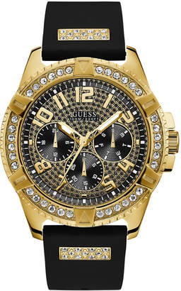 GUESS Men's Black Silicone Strap Watch 48mm