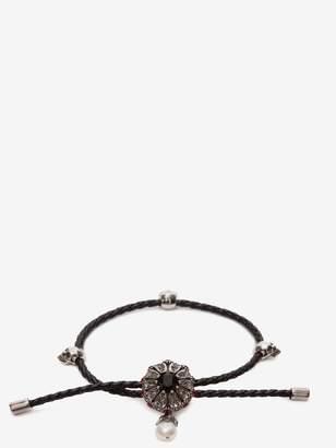 Alexander McQueen Jewel Charm Nappa Bracelet