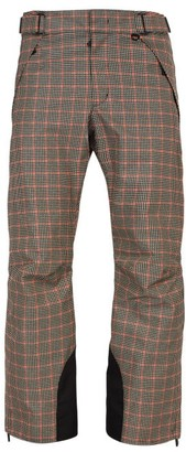 Moncler 3 Houndstooth Print Ski Trousers - Mens - Beige
