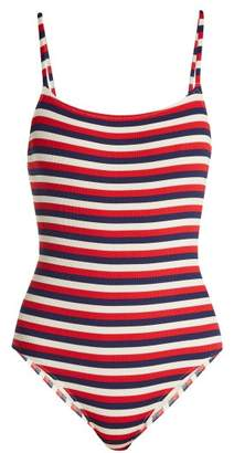 Solid & Striped The Nina Scoop Back Swimsuit - Womens - Red Stripe