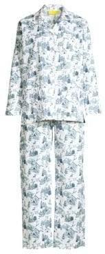 Roller Rabbit Ski Toile Pima Cotton Pajama Set