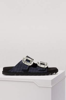 Roger Vivier Slidy Viv Strass sandals